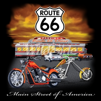 Wholesale T-Shirts, Bulk T-Shirts, Route 66 T Shirts Online at Cheap Price, Discount Route 66 T Shirts - 16146