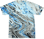 Wholesale Short Sleeve Tie Dye T Shirts, Apparel, Wholesale, Bulk, Supplier - tie_dye_marble_blue_tiger