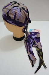 Wholesale Products Bulk Suppliers - BN239. Skull Cap-Purple Tan Camo