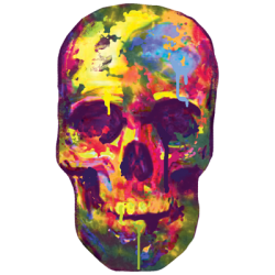 Skull Gothic Cheap Bulk Wholesale Clothing - Skull Face T Shirts - Men's Fashion Cheap Short Sleeve Wholesale Clothing - 20488NBT2