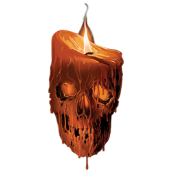 Skull Gothic Cheap Bulk Wholesale Clothing - Skull Candle T Shirts in Bulk, Clothing & Apparel - 21633HD2