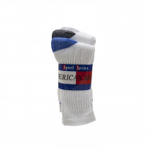 Wholesale Sox, Bulk Sox, AMERICAN MADE BRAND CREW SOCKS WITH ASSORTED COLOR HEELS AND TOE SIZE