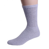 Wholesale Sox, Bulk Sox, MEN'S SOLID GRAY CREW SOCKS SIZE 10-13