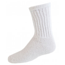 Wholesale Resale Products Cheap - Children's White Cotton Crew Socks Size 4-6