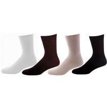 Wholesale Socks - PHYICIANS CHOICE ASST COLORS DIABETIC CREW BROWNS & TAN SIZE 10-13