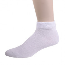 Wholesale Socks - PHYSICIAN'S CHOICE WHITE DIABETIC LOWCUT SOCKS 10-13