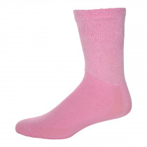 Wholesale Socks - PHYSICIANS CHOICE PINK DIABETIC CREW SOCKS 10-13
