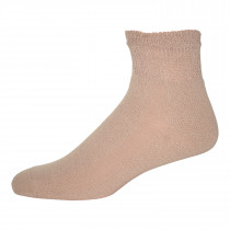 Wholesale Socks - Physicians Choice Tan Diabetic Quarter Socks Size 10-13