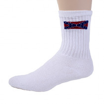 Wholesale Socks - REBEL FLAG CREW 3 PAIR BAND SOCK SIZE 9-11