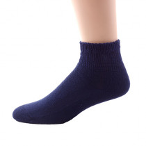 Wholesale Socks - Buy Cheap Socks Sole Pleasers Brand Navy Diabetic Quarter Socks Size 13-15