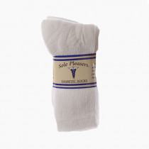 Wholesale Socks - SOLE PLEASERS WHITE DIABETIC CREW SIZE 13-15