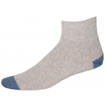 Wholesale Socks - SOLID GRAY QUARTERS WITH ROYAL HEEL & TOE SIZE 10-13