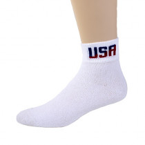 Wholesale Socks - USA QUARTER SOCKS 3 PAIR BAND SIZE 10-13