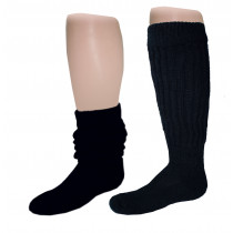 Wholesale Socks - Women's Heavy Slouch Socks Black 9-11
