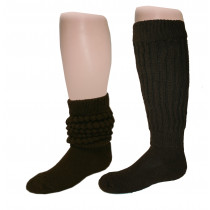Wholesale Socks - Women's Heavy Slouch Socks Brown 9-11