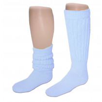 Wholesale Socks - Women's Heavy Slouch Socks Light Blue 9-11
