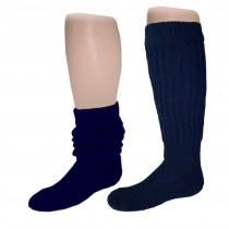 Wholesale Socks - Women's Heavy Slouch Socks Navy 9-11