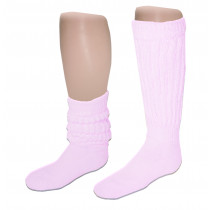 Wholesale Socks - Women's Heavy Slouch Socks Pink 9-11