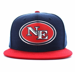 New England Apparel T Shirts Wholesale Hats Caps Embroidered Baseball Logo Supplier Bulk - New England State Snapback (Navy Red) - SM794-27