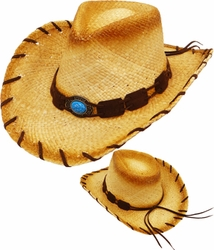 Wholesale Straw Hats - Sun Hats, Fedoras, Visors, Cowboy Hats - SC-214 Straw Hat
