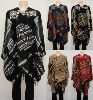 Wholesale Suppliers Wholesalers, Products - WN3080. Wrap-Around Shawl [Aztec Design]