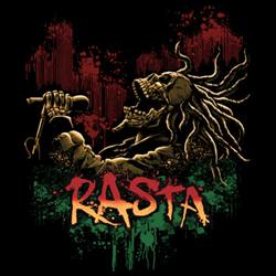 Skull Gothic Cheap Bulk Wholesale Clothing - Rasta T Shirts, Black Skull T Shirts - 15049D1-1