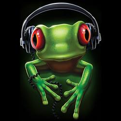 Wholesale Frog Funny Earbuds T Shirts -18618D0-1
