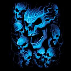 Wholesale T Shirts, Black Skull T Shirts, Liquid Blue T Shirts, Men's T Shirts, MSC T Shirts -18634D0-1