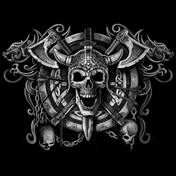Skull Wholesale T Shirts, Black Skull T Shirts, Liquid Blue T Shirts, Men's T Shirts, MSC T Shirts -19406D0-1