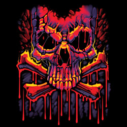 Skull Wholesale T Shirts, Black Skull T Shirts, Liquid Blue T Shirts, Men's T Shirts, MSC T Shirts -20306D0-1