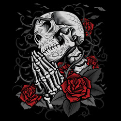 Skull Wholesale T Shirts, Black Skull T Shirts, Liquid Blue T Shirts, Men's T Shirts, MSC T Shirts -20310D0-1