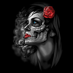 Skull Wholesale T Shirts, Black Skull T Shirts, Liquid Blue T Shirts, Men's T Shirts, MSC T Shirts -20455D2-1