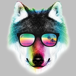 Summer Wolf T Shirts Wholesale Bulk Graphic Printed Suppliers - 19946HL2