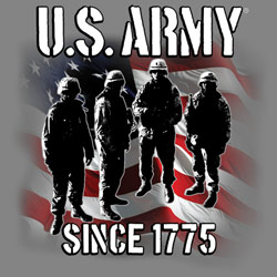 Wholesale Military Army Since 1775 Clothing Apparel T Shirts Bulk - MSC Distributors