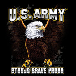 Military US Army Strong Brave Proud - Wholesale Clothing, Hats, Caps, Blank Apparel, Bulk T-Shirts, Cheap Polo Shirts, Supplier - MSC Distributors