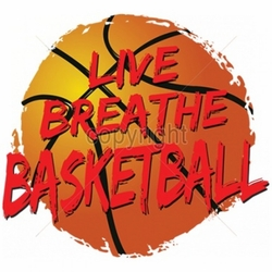 Wholesale T Shirts Bulk Suppliers Funny T Shirts - Live Breathe Basketball a6083g