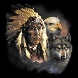 Wholesale U.S. Native American Indian Pride Wolf Apparel Online Store Hats and T Shirts Suppliers - MSC Distributors