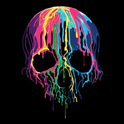 Skull Wholesale T Shirts, Black Skull T Shirts, Liquid Blue T Shirts, Men's T Shirts, MSC T Shirts -19423NBT2-1