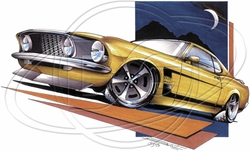 Wholesale Products - Ford Mustang Car T-Shirt Supplier, Wholesale Supplier of Funny T-Shirts in Bulk - POS-463