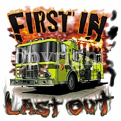 Wholesale T Shirts, Wholesale Hats, 100% Custom Fire Department Apparel - Clothing, First in last out, Firefighter  T Shirts Cheap Online Sale At Wholesale Prices - MSC Distributors