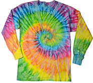 Wholesale Products - Men's Women's Adult Colortone Youth & Adult Tie Dye Long Sleeve T-Shirt - MSC Distributors Saturn
