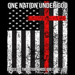 Wholesale Military T Shirts in Bulk - One nation under god - 5260V2 christian patriotic flag