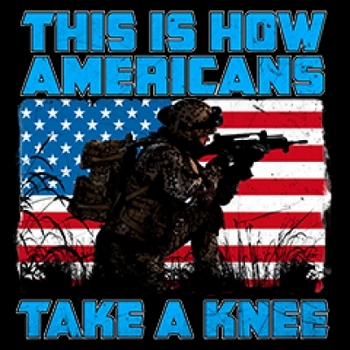 This is Americans take a knee T-shirt - 5815V2 military patriotic