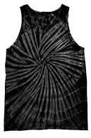 Wholesale Products - Men's Women's Adult Colortone Unisex Tie Dye Tank Top - SPIDER BLACK