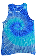 Wholesale Products - Men's Women's Adult Colortone Unisex Tie Dye Tank Top - Blue Jerry - MSC Distributors