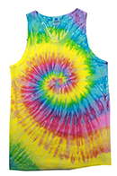 Wholesale Products - Men's Women's Adult Colortone Unisex Tie Dye Tank Top - Saturn - MSC Distributors