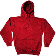Clothing Hoodies Tie Dye Mineral Wholesale Bulk Suppliers - Mineral Red
