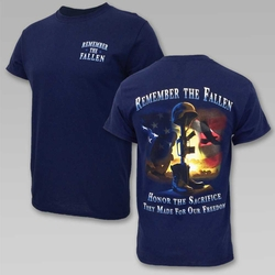 Wholesale Clothing, Military T Shirts - Remember The Fallen Honor The Sacrifice T-Shirt