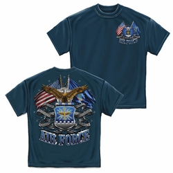 Wholesale US Military Clothing T Shirts Hats Caps - US Air Force Double Flag T-Shirt