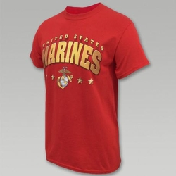 Wholesale US Military Clothing T Shirts Hats Caps - US Marine Corps 4-Star T-Shirt